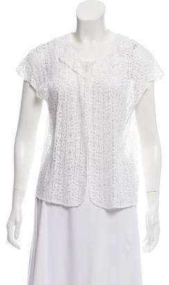DKNY Crochet Knit Vest