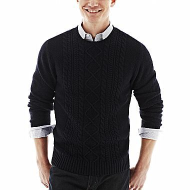 Claiborne Seed-Stitch Sweater