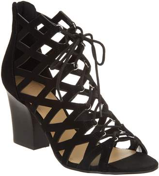 Marc Fisher Cut-out Suede Lace-up Sandals - Blair