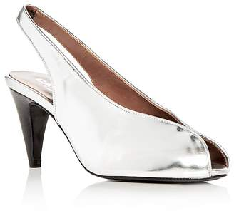 Carel Women's Saturne Metallic Slingback Peep Toe Pumps