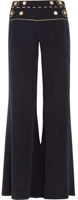 Pierre Balmain Washed-Silk Wide-Leg Pants