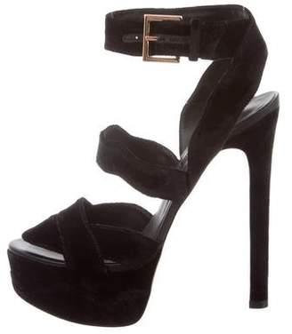 Ruthie Davis Audrey Velvet Sandals w/ Tags
