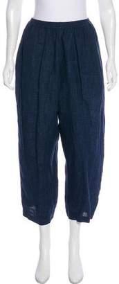eskandar Linen High-Rise Pants