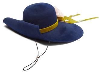 Silk flowers for hats shopstyle uk com gucci aria flower applique felt hat womens blue mightylinksfo