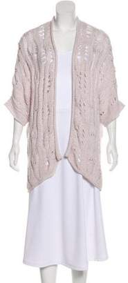 Calypso Rib Knit Open-Front Cardigan