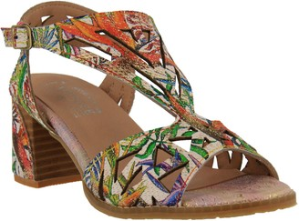 Spring Step L'Artiste by Leather Ankle StrapSandals-Calpie