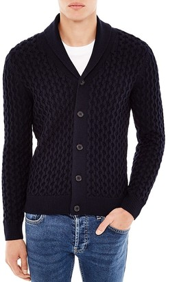 Sandro Warren Merino Blend Cardigan Sweater $475 thestylecure.com