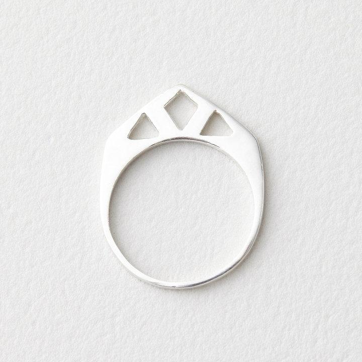 In God We Trust diamond point ring