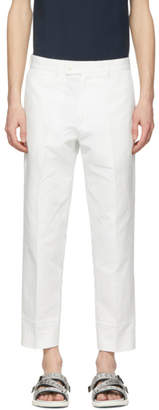 CHILDS White False Hem Trousers