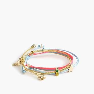 J.Crew Girls' critter bracelet three-pack in stars and pineapples