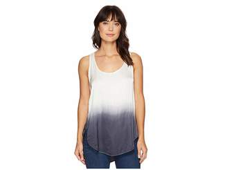 Heather Ombre Scoop Tank Top Women's Sleeveless