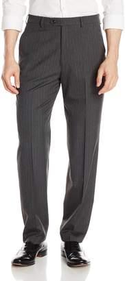 Haggar Men's Suit Pant Textured Stripe Classic Fit Flat Front