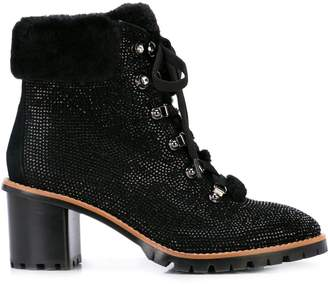 Lola Cruz embellished ankle boots
