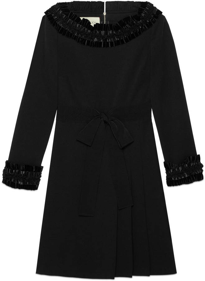 GucciVelvet and lace trimmed dress