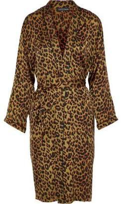 Love Stories Susie Leopard-print Satin Robe