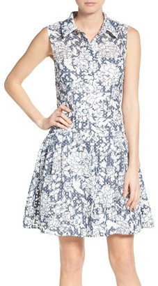 Women's Betsey Johnson Fit & Flare Shirtdress $128 thestylecure.com