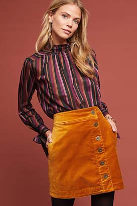 Maeve Orchard Velvet Mini Skirt
