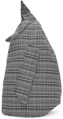 Raf Simons Black & White Eastpak Edition Plaid Sling Backpack