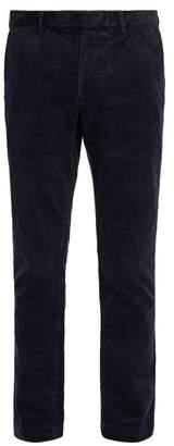 Polo Ralph Lauren Slim Leg Cotton Blend Corduroy Trousers - Mens - Navy