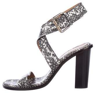 Proenza Schouler Embossed Ankle-Strap Sandals