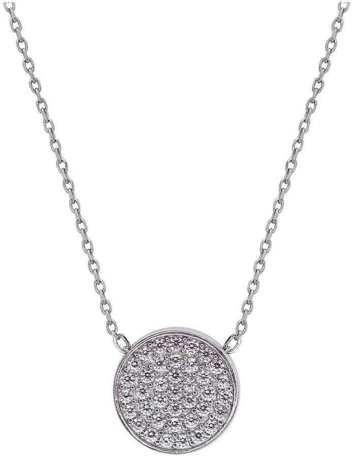 CARAT* London Sterling Silver Pavé Set 'Gala' Pendant Necklace