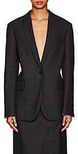 CALVIN KLEIN 205W39NYC Women's Checked Worsted Wool Blazer - Gray