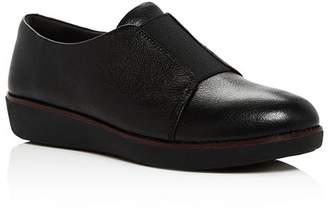 FitFlop Women's Laceless Derby Leather Slip-On Sneakers