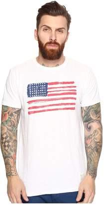 Original Retro Brand The American Flag Short Sleeve Slub Tee Men's T Shirt