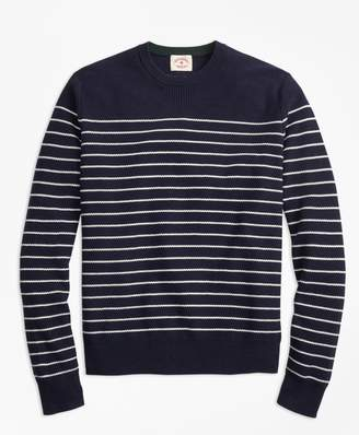 Brooks Brothers Breton-Stripe Cotton-Cashmere Sweater