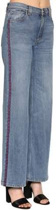 Etro Wide Leg Cotton Denim Jeans