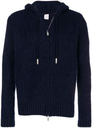 Eleventy zipped knit hoodie