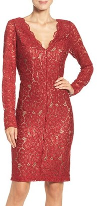 Women's Vera Wang Lace Sheath Dress $258 thestylecure.com