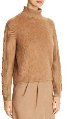 Max Mara Formia Virgin Wool & Cashmere Turtleneck Sweater