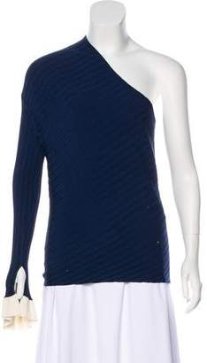 Esteban Cortazar Rib Knit Asymmetrical Top