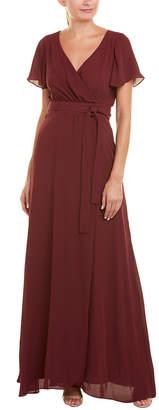 Paper Crown Maxi Wrap Dress