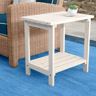 Beachcrest Home Arcel Rectangular Cedar Side Table