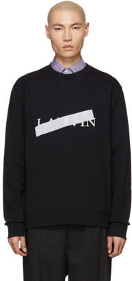 Lanvin Black Cross Out Logo Sweatshirt