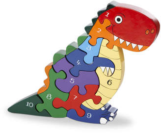 Wood Like To Play Handmade Wooden Number T Rex Dinosaur Puzzle