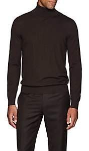 Brioni Men's Fine-Gauge Cashmere Turtleneck Sweater - Brown