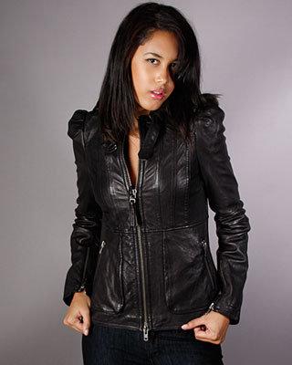 Mackage Puff Shoulder Leather Jacket