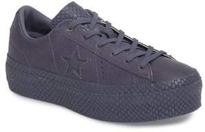 Converse Chuck Taylor(R) All Star(R) One Star Platform Sneaker