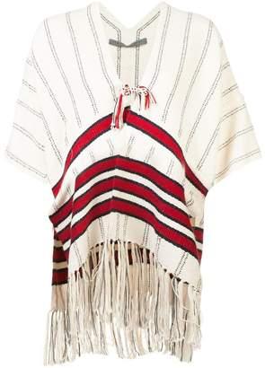 Raquel Allegra tassel detail poncho jacket