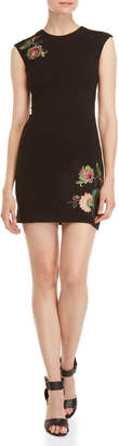 Desigual Floral Embroidered Sheath Dress