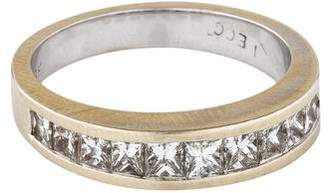 Ring 18K Princess Cut Diamond Band