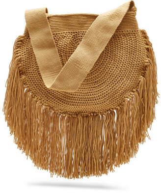 Soraya Hennessy Fringe Boho Crochet Shoulder Bag