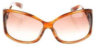 Oscar de la Renta Logo Oversize Sunglasses