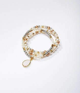LOFT Pearlized Stretch Bracelet Set