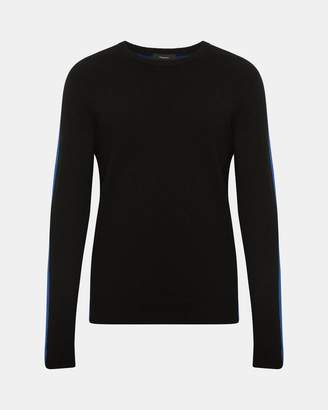 Theory Cashmere Color Blocked Sweater