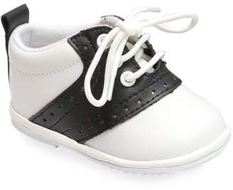 L'Amour Shoes Austin Two-Tone Leather Saddle Oxford Shoes, Baby