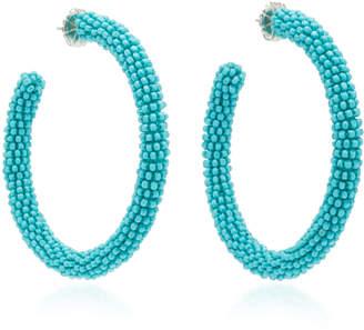 Deepa Gurnani Eliza Bead Embellished Hoop Earrings